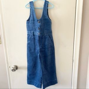 NWT Zara Girls Blue Jumpsuit 8 years